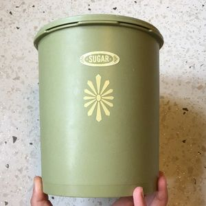 Vintage Tupperware sugar canister